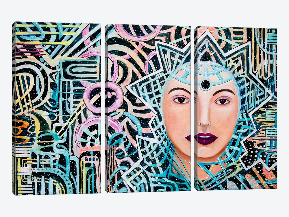 Oracle by Meghan Oona Clifford 3-piece Canvas Art Print
