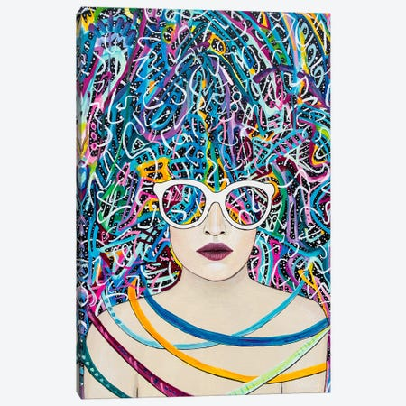Spectacles Canvas Print #MOC17} by Meghan Oona Clifford Canvas Art Print