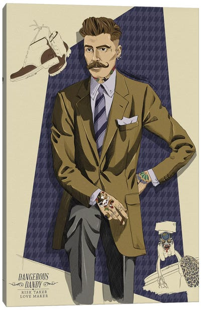 Dangerous Dandy Canvas Art Print