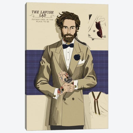 The Lavish Lad Canvas Print #MODG4} by 5by5collective Canvas Art
