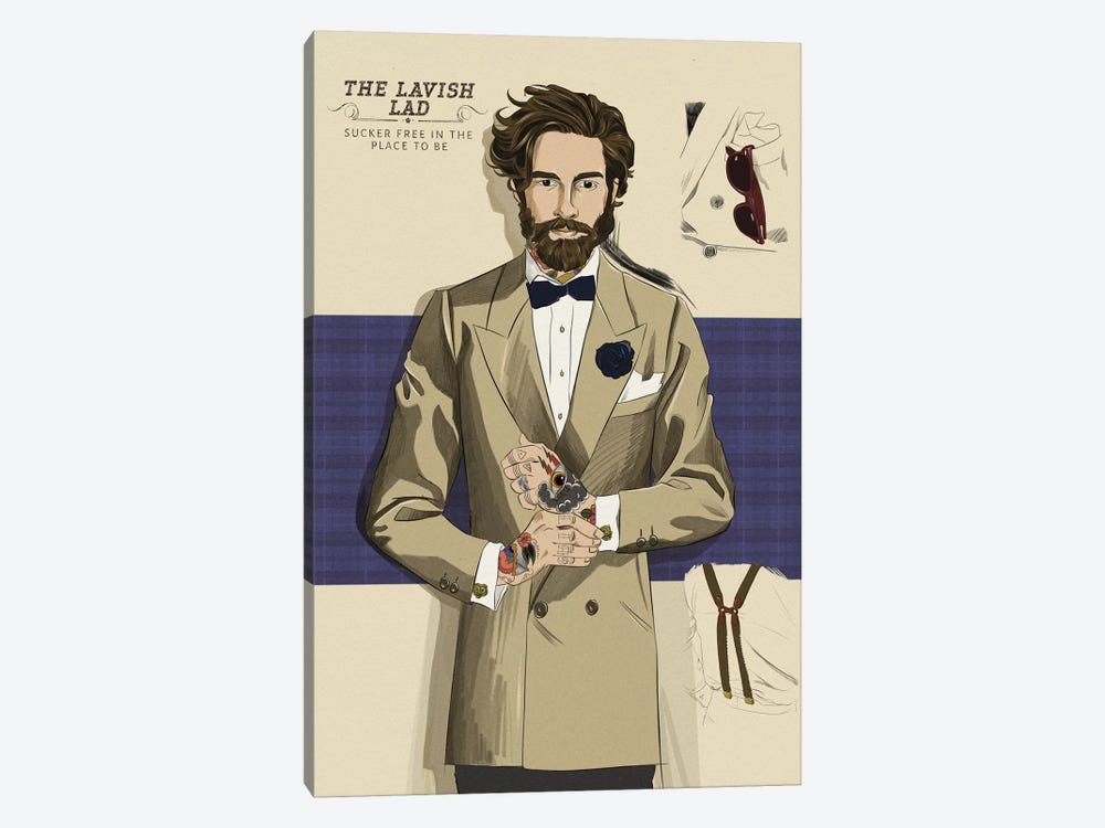 The Lavish Lad by 5by5collective 1-piece Canvas Art