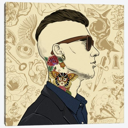 Tatted Up 1 Canvas Print #MODG5} by 5by5collective Canvas Artwork