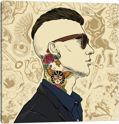 Tatted Up 1 Canvas Art Print