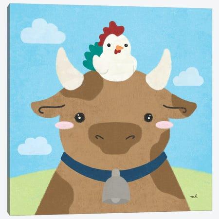 Barn Buddies I Canvas Print #MOH10} by Moira Hershey Art Print