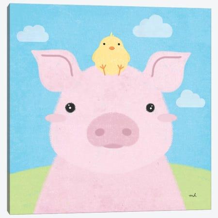 Barn Buddies II Canvas Print #MOH11} by Moira Hershey Canvas Print