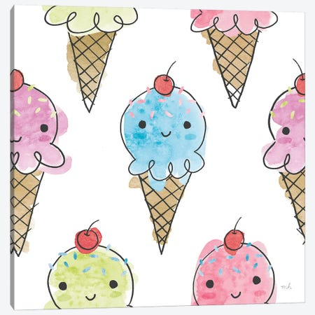 My Treat Pattern V Canvas Print #MOH20} by Moira Hershey Canvas Art