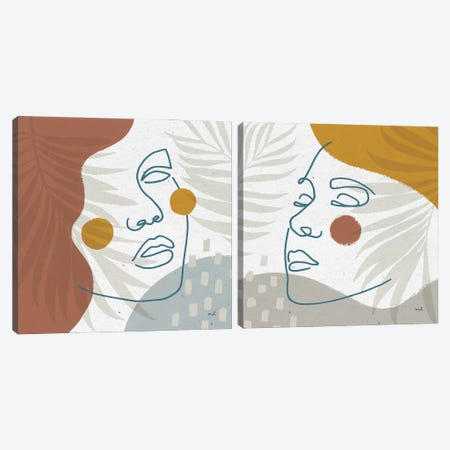 Island Breeze Diptych Canvas Print Set #MOH2HSET004} by Moira Hershey Canvas Wall Art