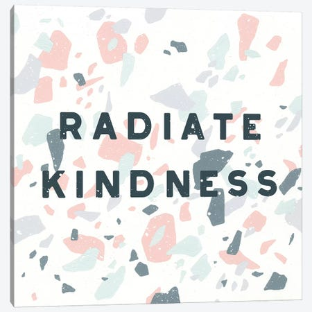 Terrazzo Inspiration I Kindness Canvas Print #MOH41} by Moira Hershey Canvas Wall Art