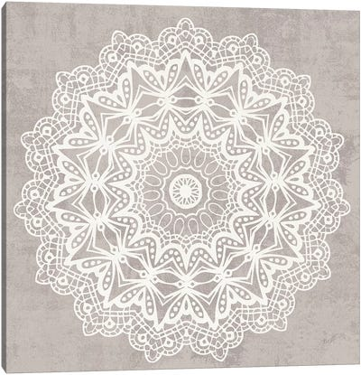 Contemporary Lace Neutral VI v2 Vintage Canvas Art Print