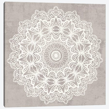 Contemporary Lace Neutral VI v2 Vintage 3-Piece Canvas #MOH52} by Moira Hershey Canvas Art Print