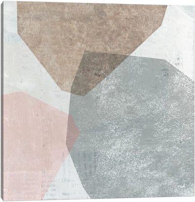 Pensive I Blush Gray Canvas Art Print