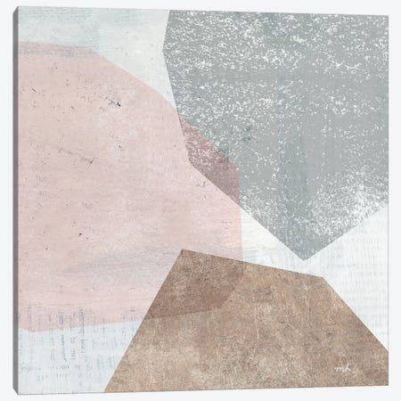 Pensive II Blush Gray 3-Piece Canvas #MOH58} by Moira Hershey Canvas Print
