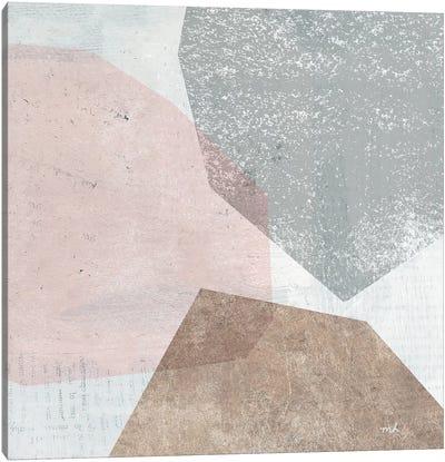 Pensive II Blush Gray Canvas Art Print