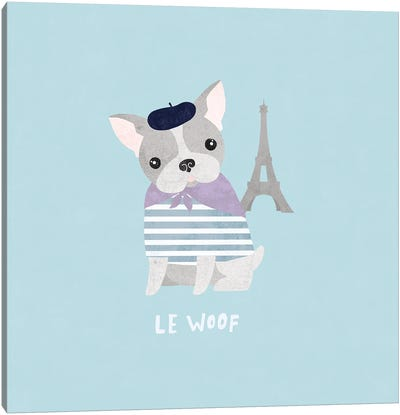 Good Dogs French Bulldog Pastel Canvas Art Print
