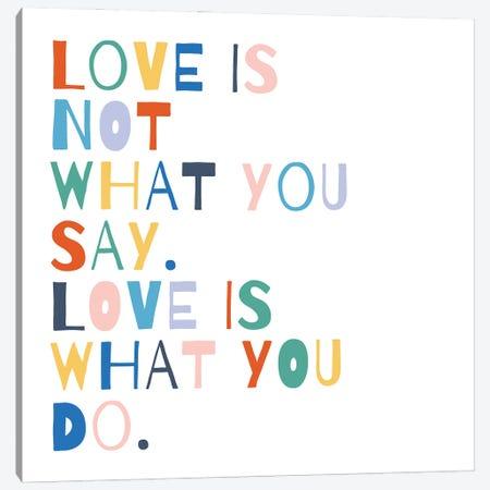 Rainbow Words I Canvas Print #MOH84} by Moira Hershey Canvas Art Print