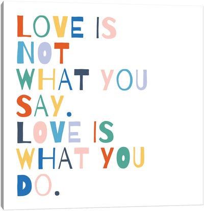 Rainbow Words I Canvas Art Print