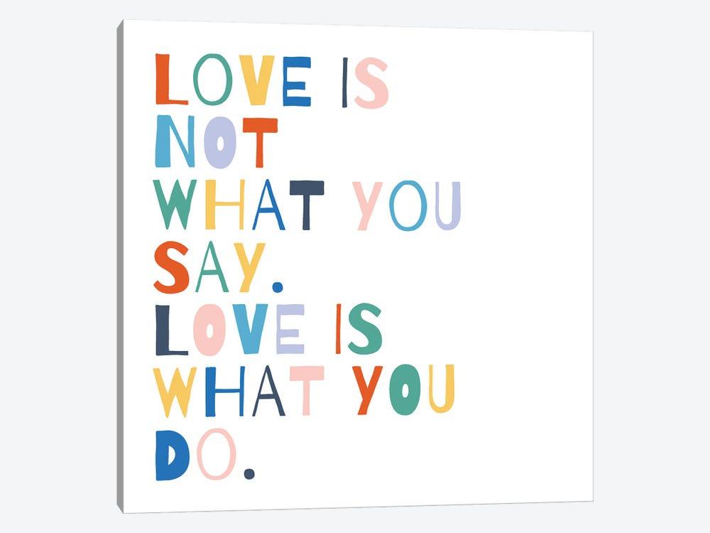 Rainbow Words I by Moira Hershey 1-piece Art Print