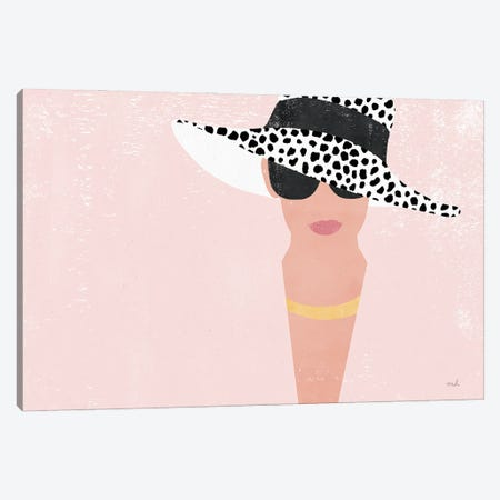 Fashion Forward Blush Canvas Print #MOH88} by Moira Hershey Canvas Wall Art