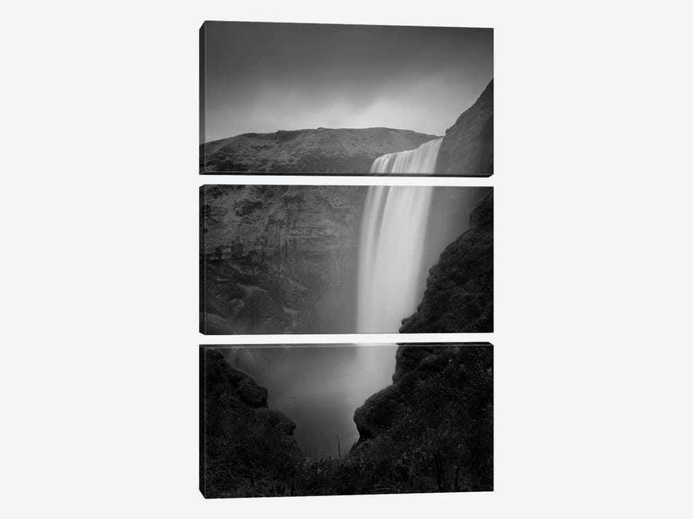 Skogafoss #2 by Moises Levy 3-piece Canvas Wall Art