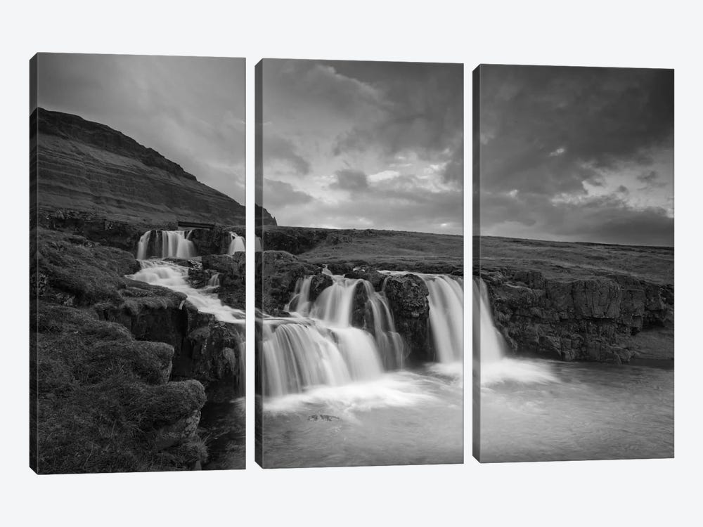 Snaefellsnes #2 B&W by Moises Levy 3-piece Canvas Print