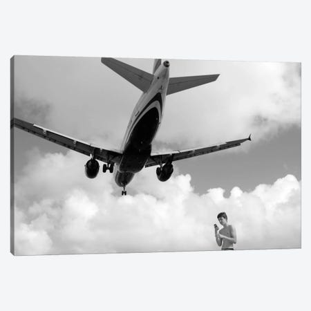 Airplanes #19 Canvas Print #MOL129} by Moises Levy Art Print