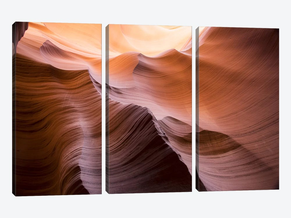 Smooth II by Moises Levy 3-piece Canvas Print