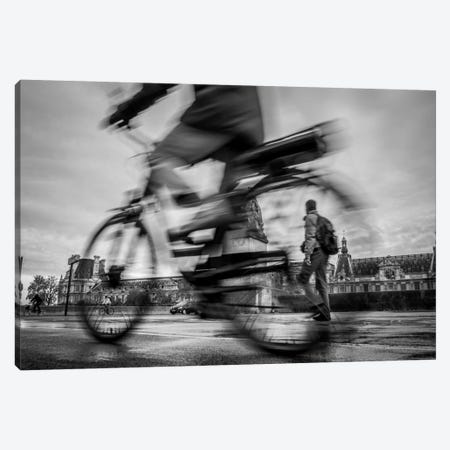 Bike In Paris I Canvas Print #MOL166} by Moises Levy Canvas Artwork
