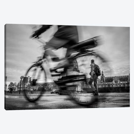 Bike In Paris I Canvas Print #MOL166} by Moises Levy Canvas Artwork