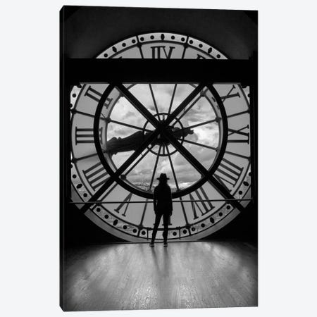 La Duena del Tiempo, B&W Canvas Print #MOL173} by Moises Levy Canvas Art