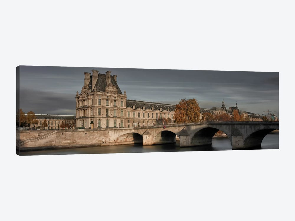 Louvre In Autumn by Moises Levy 1-piece Canvas Wall Art
