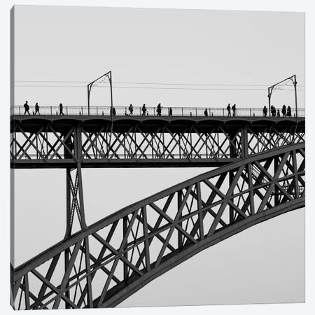 People On Porto Canvas Print #MOL182} by Moises Levy Canvas Print