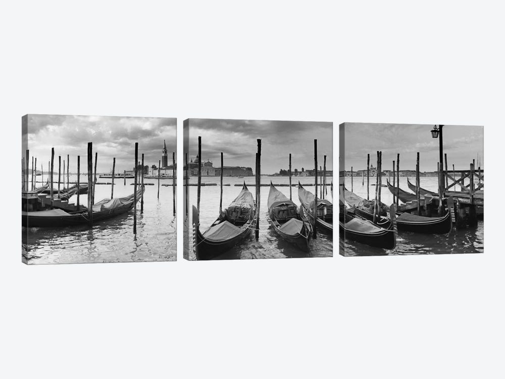 Venezia Panoramic III by Moises Levy 3-piece Canvas Print
