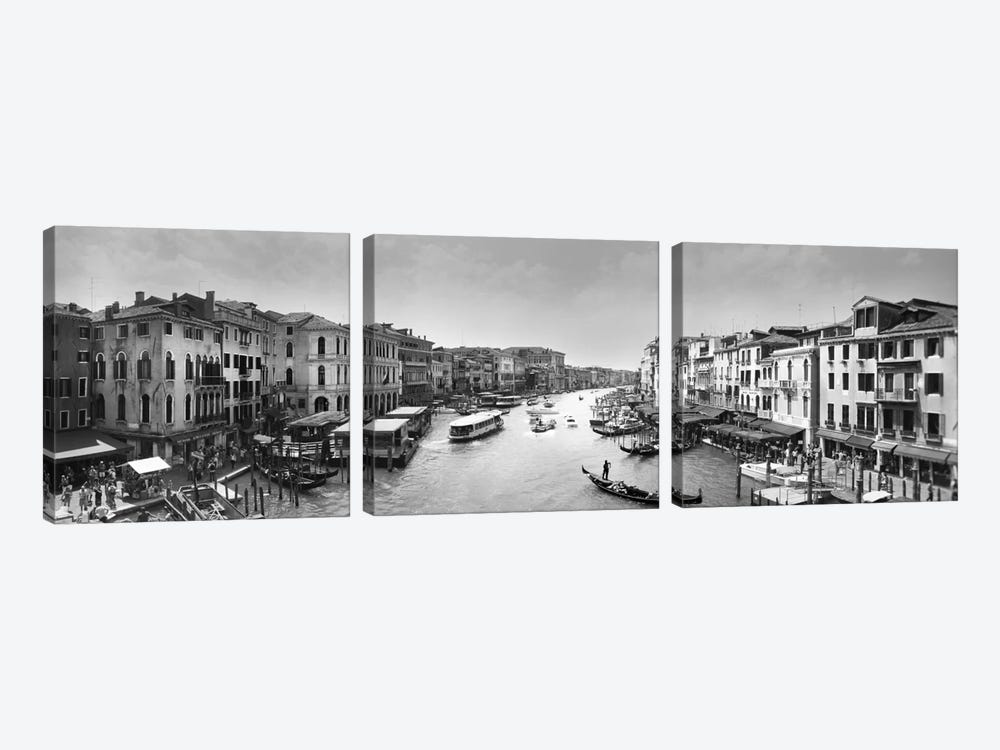 Venezia Panoramic VII by Moises Levy 3-piece Canvas Print
