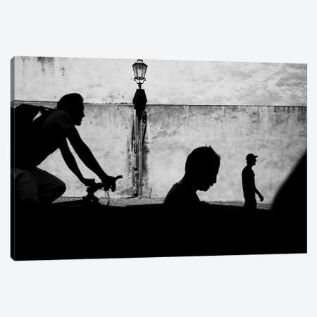 City Silhouettes I Canvas Print #MOL276} by Moises Levy Canvas Wall Art
