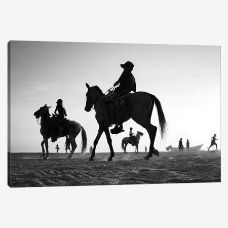 Horses I Canvas Print #MOL295} by Moises Levy Canvas Artwork
