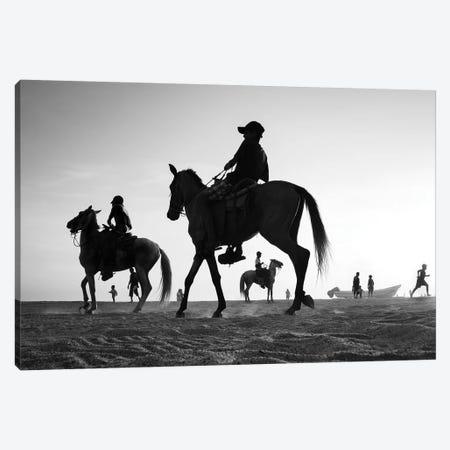 Horses I Canvas Print #MOL295} by Moises Levy Canvas Artwork