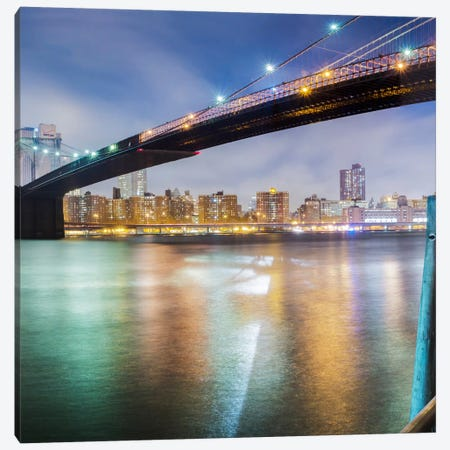 Brooklyn Bridge Pano #2, part 2 of 3 Canvas Print #MOL30} by Moises Levy Art Print