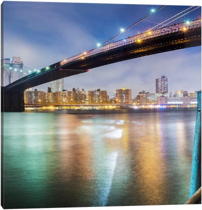 Brooklyn Bridge Pano #2, part 2 of 3 Canvas Print #MOL30