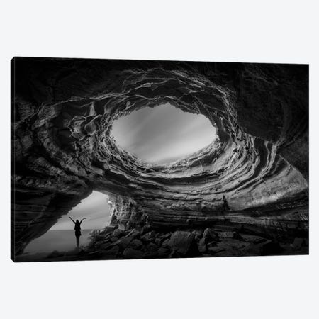 Caves I Canvas Print #MOL318} by Moises Levy Canvas Artwork