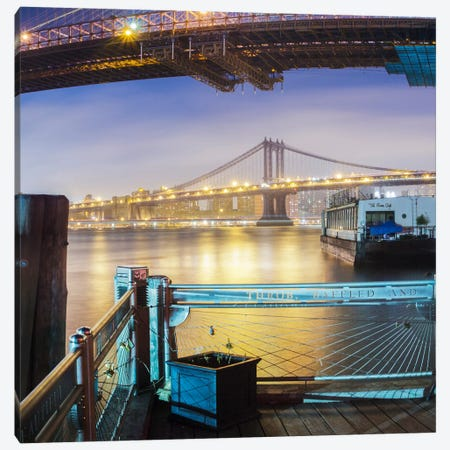 Brooklyn Bridge Pano #2, part 3 of 3 Canvas Print #MOL31} by Moises Levy Canvas Art Print