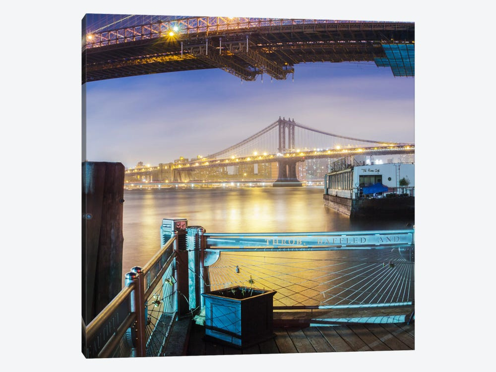 Brooklyn Bridge Pano #2, part 3 of 3 by Moises Levy 1-piece Canvas Art