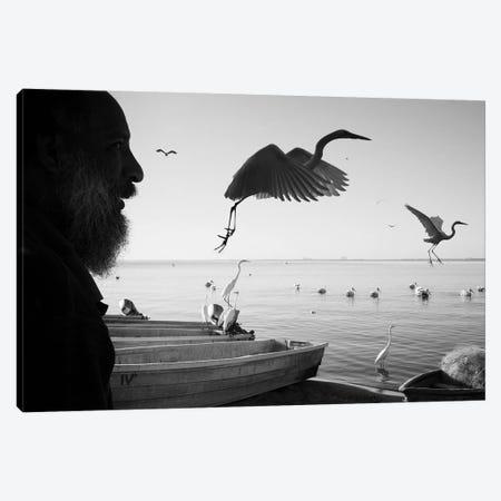 Fishermen Waters I Canvas Print #MOL342} by Moises Levy Art Print