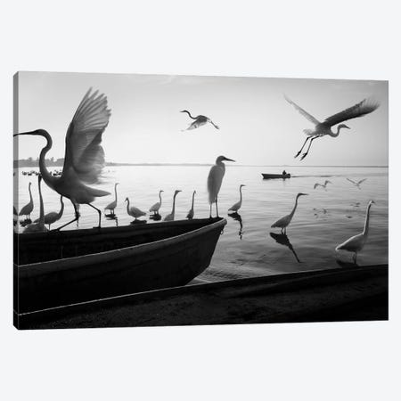 Fishermen Waters II 3-Piece Canvas #MOL343} by Moises Levy Art Print
