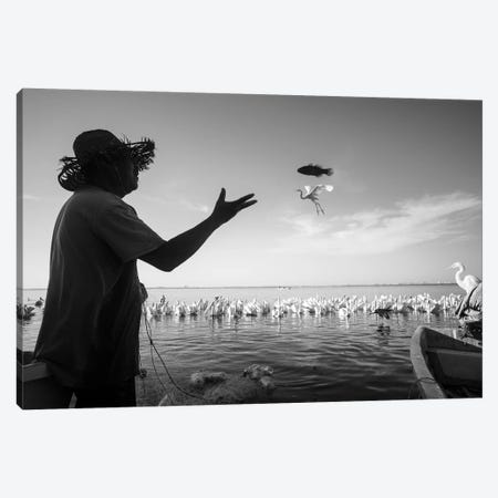 Fishermen Waters IV Canvas Print #MOL345} by Moises Levy Canvas Wall Art