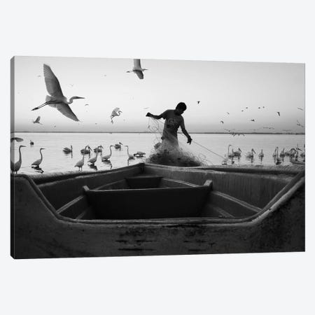 Fishermen Waters V Canvas Print #MOL346} by Moises Levy Canvas Wall Art