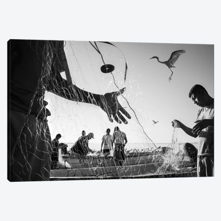 Fishermen Waters VI Canvas Print #MOL347} by Moises Levy Canvas Art