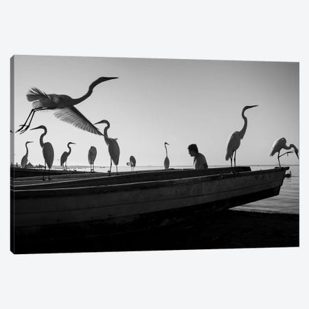 Fishermen Waters X Canvas Print #MOL351} by Moises Levy Canvas Artwork