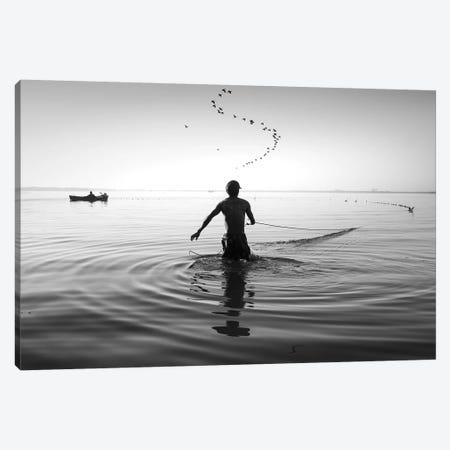 Fishermen Waters XIV Canvas Print #MOL355} by Moises Levy Art Print