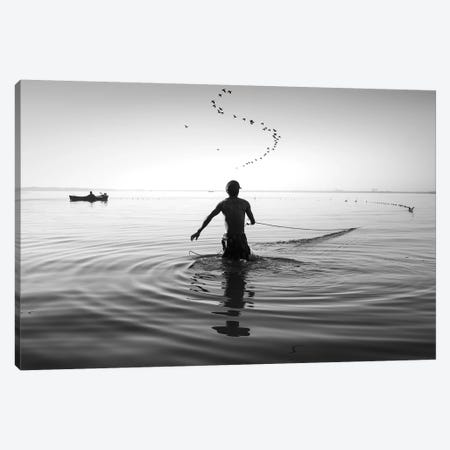 Fishermen Waters XIV Canvas Print #MOL355} by Moises Levy Art Print