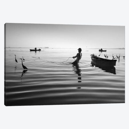 Fishermen Waters XV Canvas Print #MOL356} by Moises Levy Canvas Print